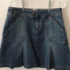 Baccini Sz. 6 Denim Pleated Skirt